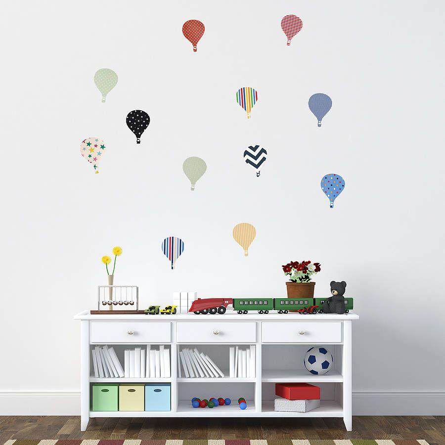 Childrens hot air balloon wall stickers balloon wall wall childrens hot air balloon wall stickers amipublicfo Choice Image