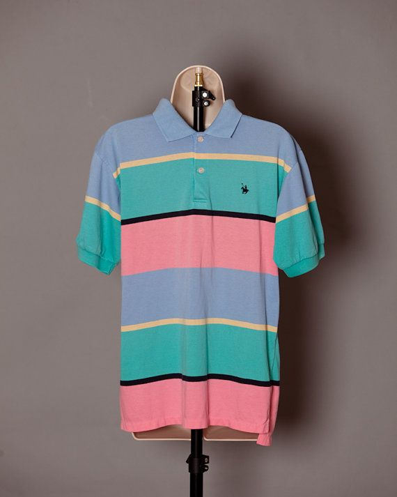 e787bfbbf5 80s 90s Men's Bright Colored Polo - Knights of Round Table - M on Etsy,  $20.00