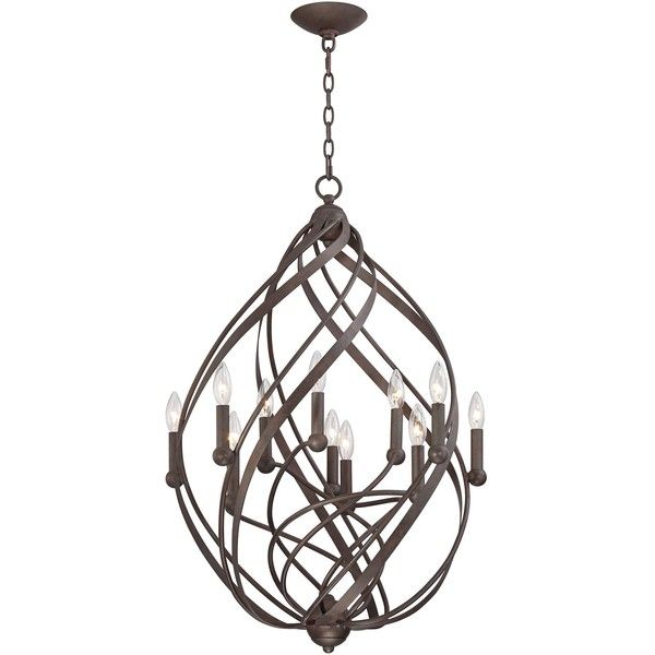 Franklin iron works gwinnett 23 12 wide 11 light twisted bronze 1161470 cop liked on polyvore featuring home lighting ceiling lights brown chandeliers brown lamps bronze chandelier lighting franklin iron aloadofball Image collections