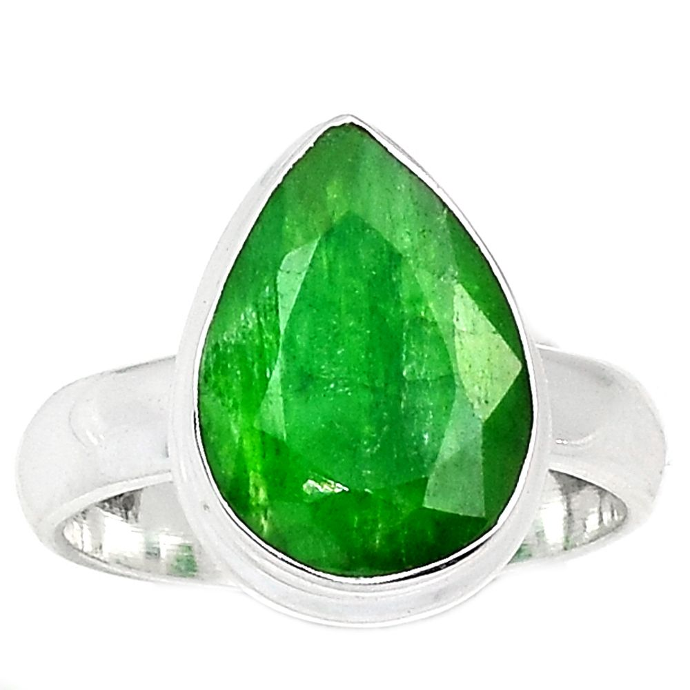 Emerald 925 Sterling Silver Ring Jewelry s.7 EMER1536 - JJDesignerJewelry