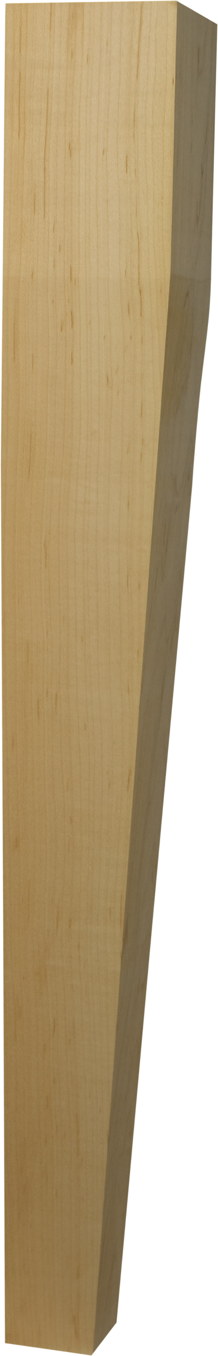 Two sided tapered dining table leg