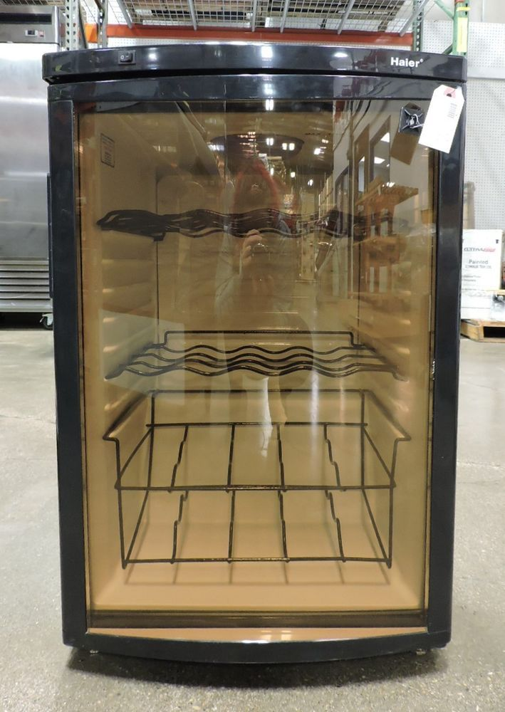 Haier Hvfm20abb 20 Bottle Wine Cellar With Contoured Smoked Glass