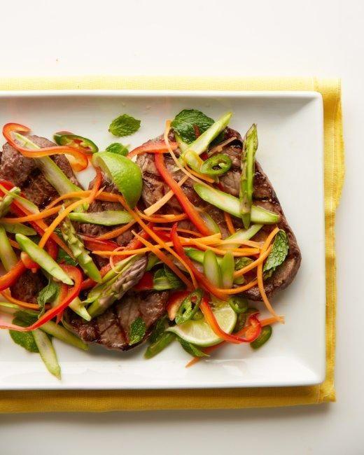 Vietnamese Steak and Asparagus Salad Recipe