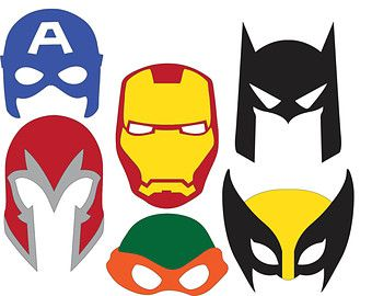 Super hero masks photo booth props cricut cameo for Iron man face mask template
