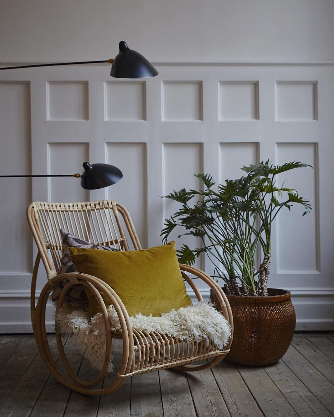 love the chair & lamp............. (With images) | Rattan ... on Decorative Wall Sconces Non Electric Lights For Closets id=75063