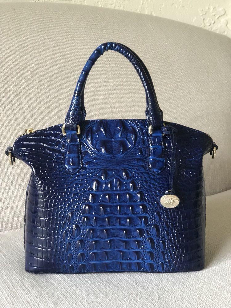 6348416e Brahmin Duxbury Satchel Sapphire Blue Melbourne Leather 749034278350 | eBay