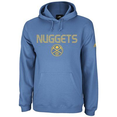 timeless design 50fd2 6ce87 adidas Denver Nuggets Playbook Pullover Hoodie - Light Blue ...