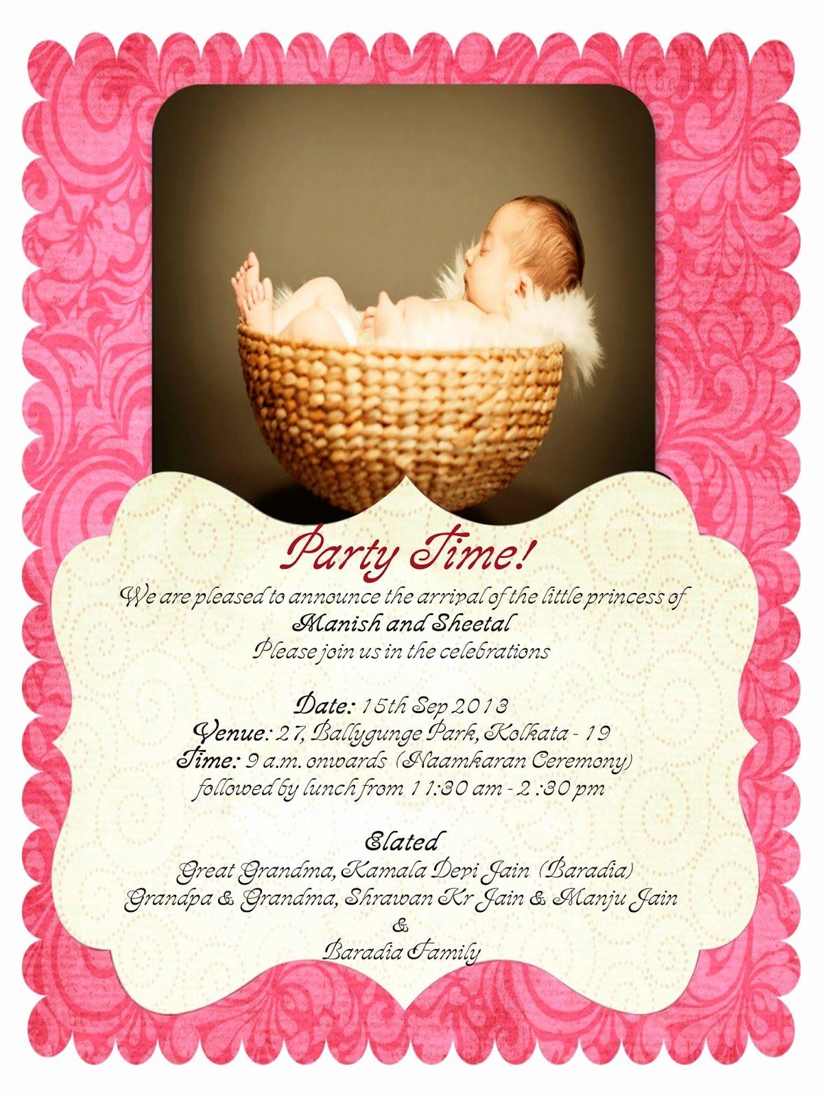 Baby Naming Ceremony Invitation Awesome Rakhi Jain Naming Ceremony Invitation Cradle Ceremony Naming Ceremony