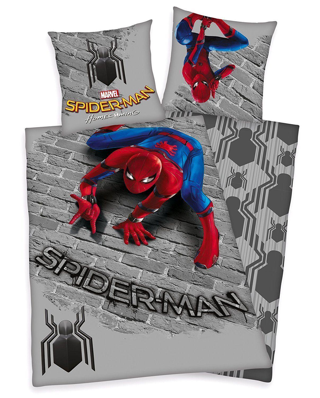 Für Das Superhelden Kinderzimmer Spiderman Bettwäsche 135 X 200 Cm