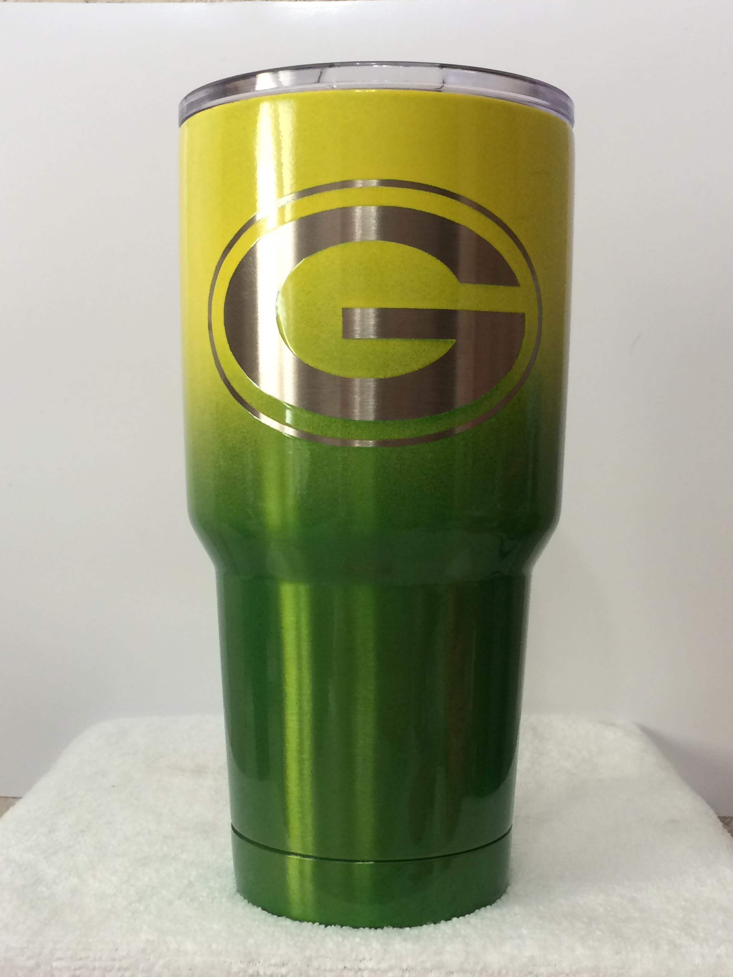This Tumbler Is The Perfect Gift For Any Sports Fan They Cannot Fumble The Ball With Our Nfl Green Bay Packers Green Bay Packers Diy Tumbler Cups Diy Tumbler