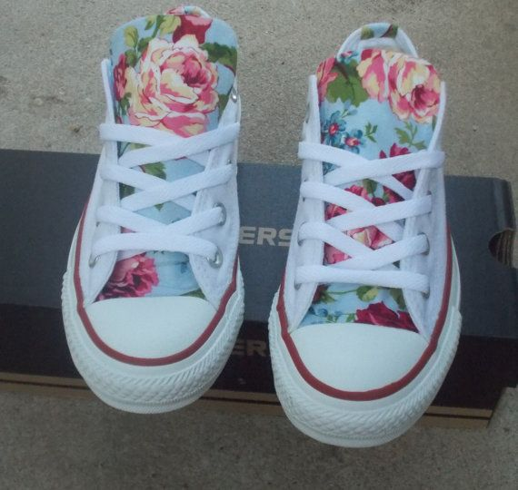3ed53deb02d5 Floral Converse Shoes by ChaoticMayhem on Etsy