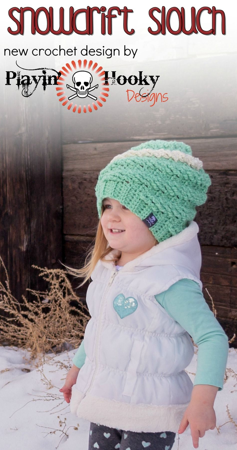 New #crochet pattern from Playin' Hooky Designs. The Snowdrift Slouch