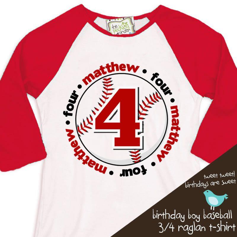 Birthday Shirt Baseball Boy Or Girl Any Age Baseball Personalized
