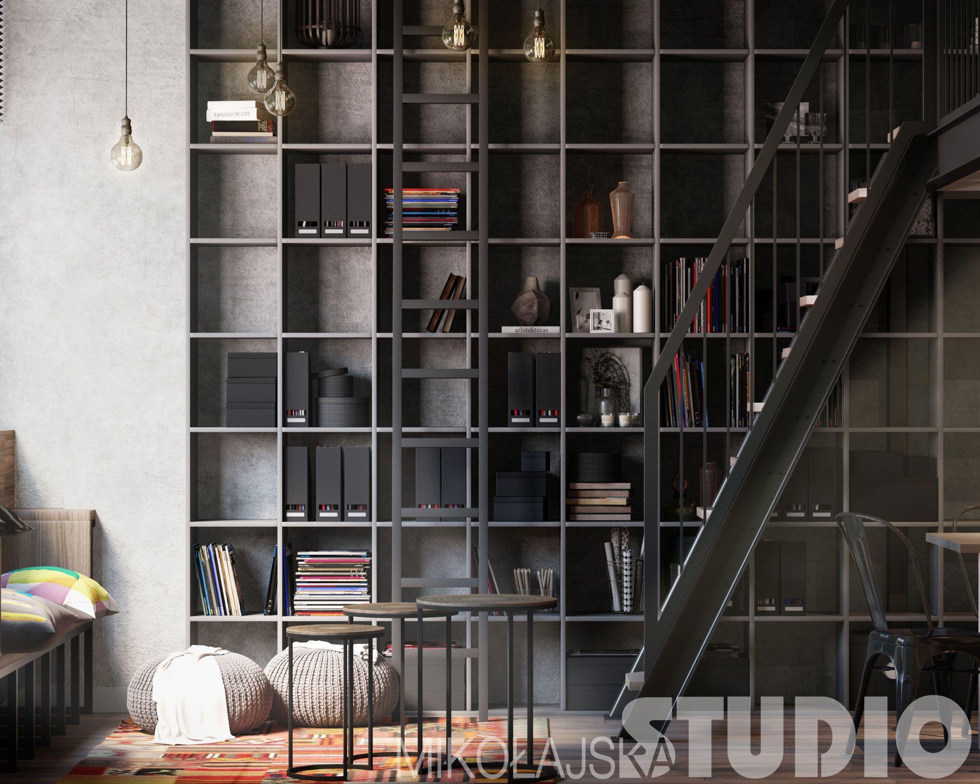 Lofty Lubelska Krakow Mikolajskastudio Krystyna Mikolajska Smart Home Design Shelving Unit