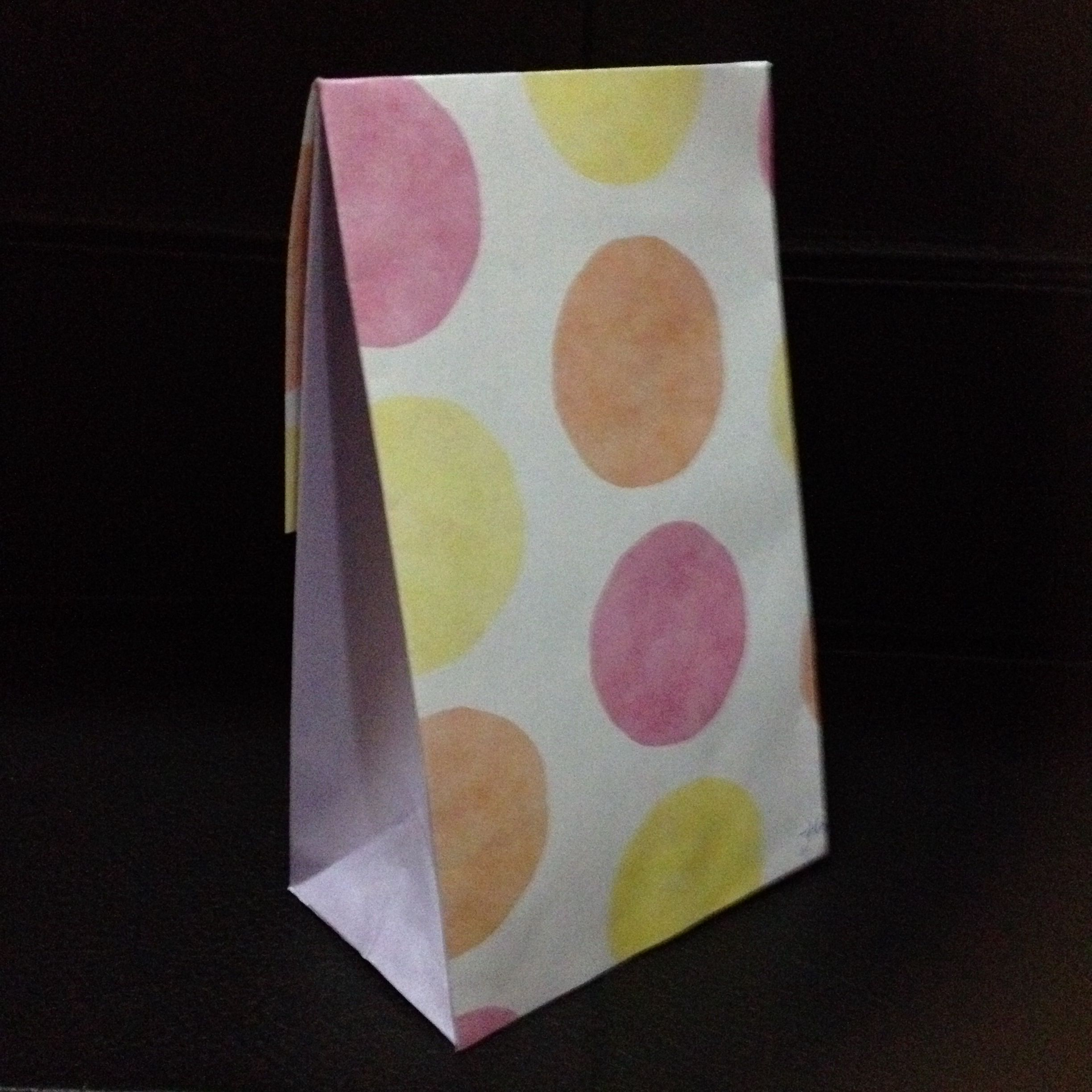 Gift Bag. Side And Back View. Made Out Of Scrapbooking