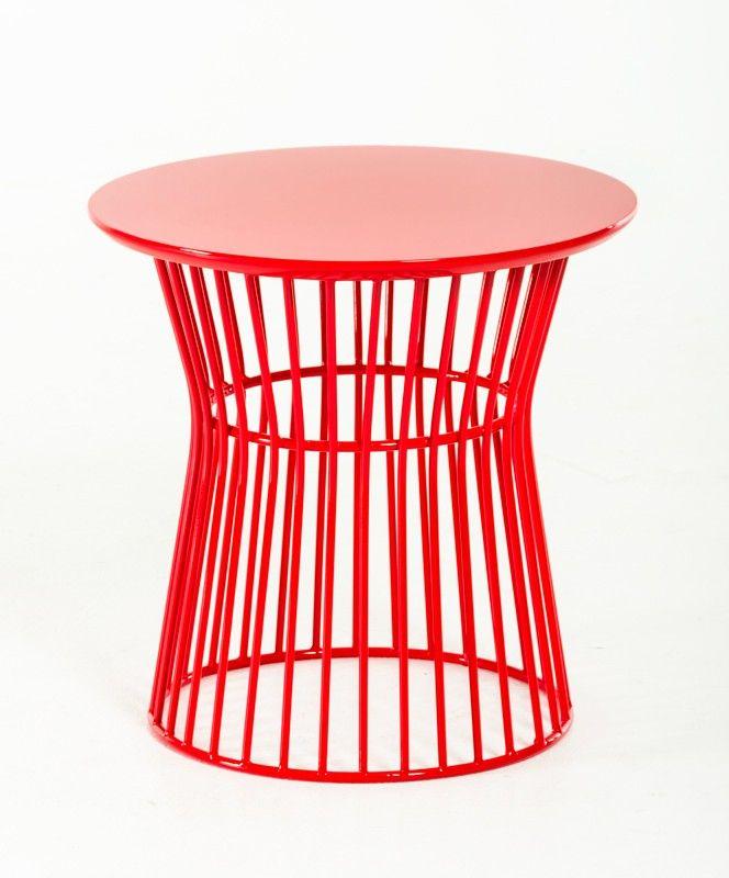 Modrest Graph Modern Red End Table   Pinterest   Modern, Living ...
