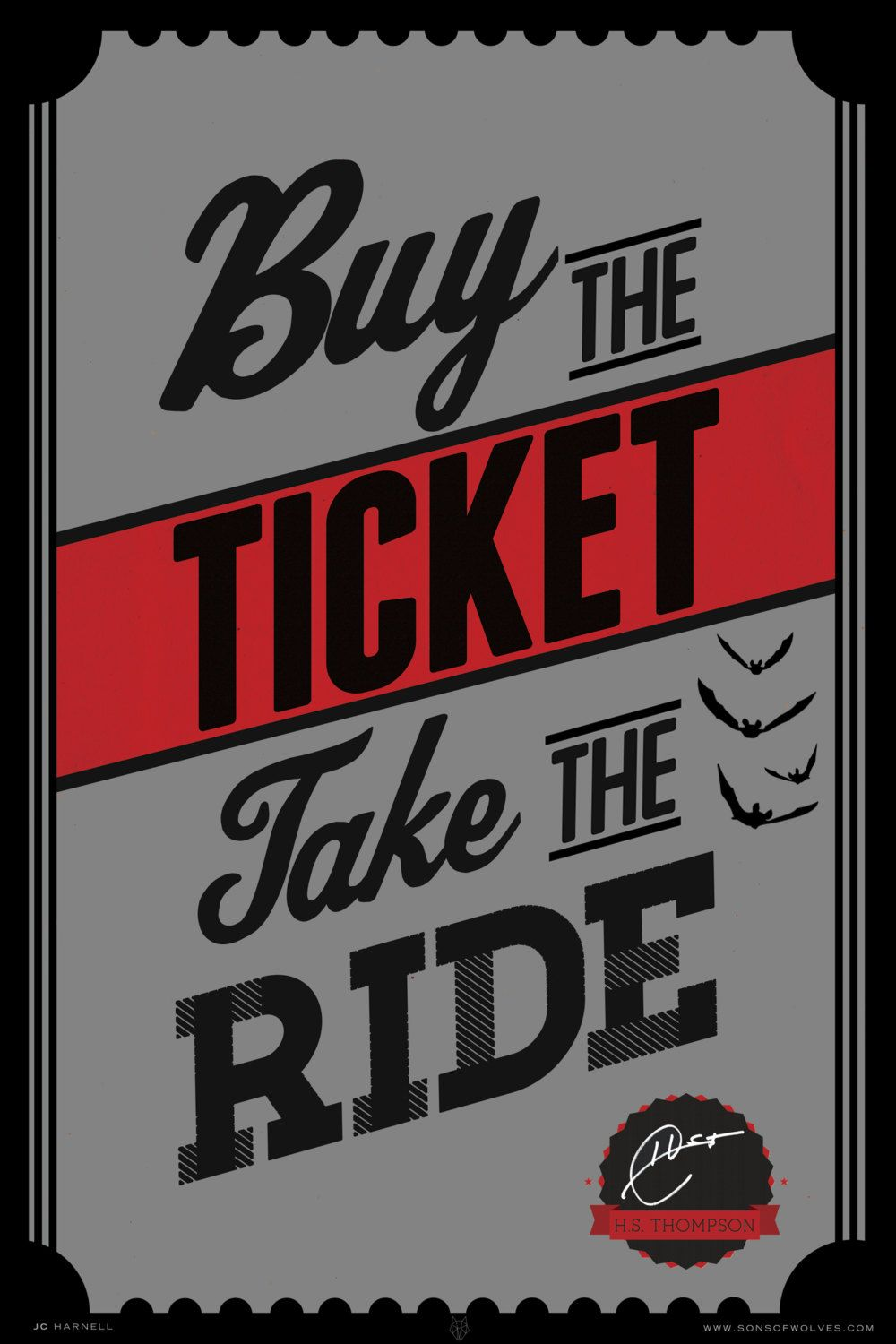 Take the Ride Giclée Print Hunter S by sonsofwolves