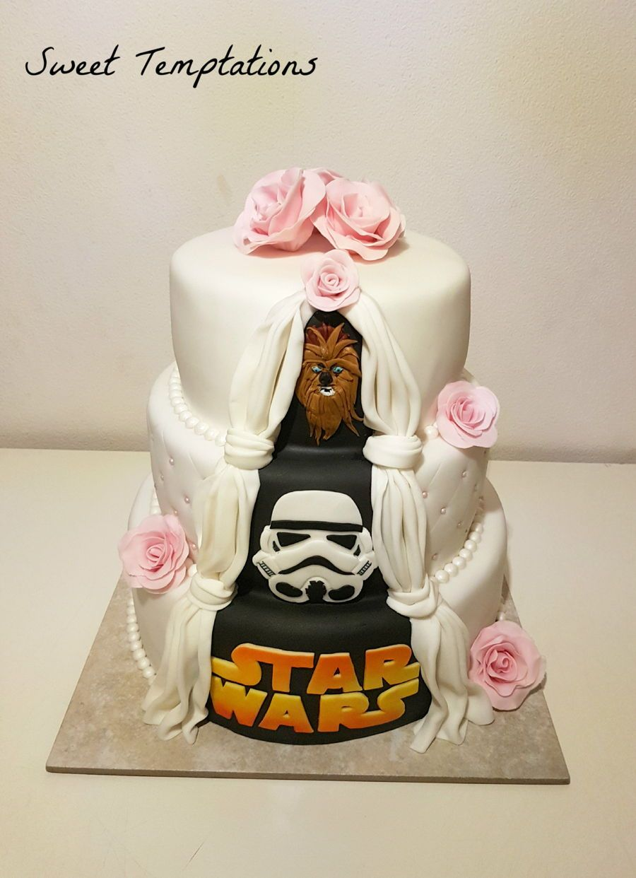 Star Wars Wedding Cake Wedding cake with little surprise for the ...