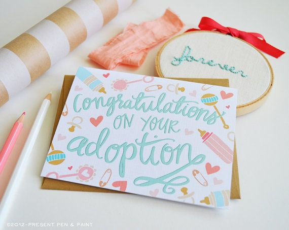 Congratulations on your adoption Welcome Little One by penandpaint
