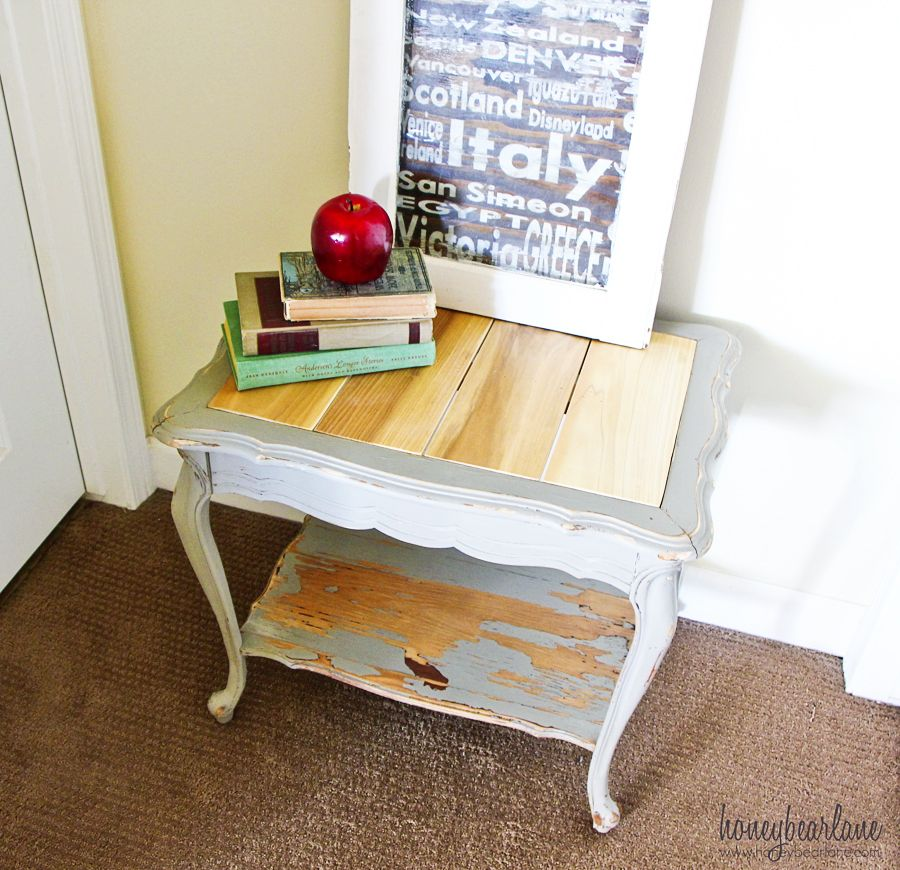 Replace A Glass Table Top With Wood Planks Glass Top Table Painted Coffee Tables Coffee Table
