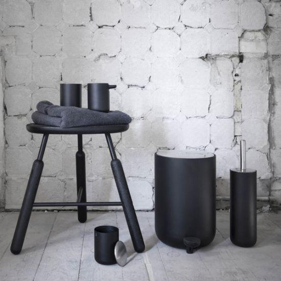 Menu Badkamerset New Norm Zwart Toiletborstel Zeepdispenser Keuken Accessoires