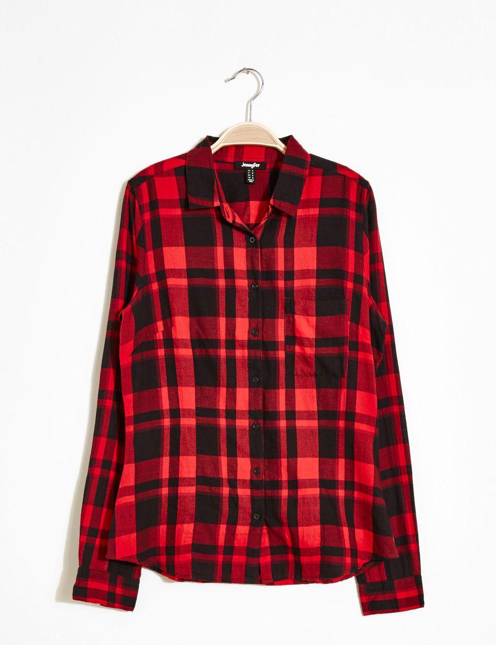 Chemise à carreaux rouge et noire femme • Jennyfer   vêtements ... 63f5184c6fed