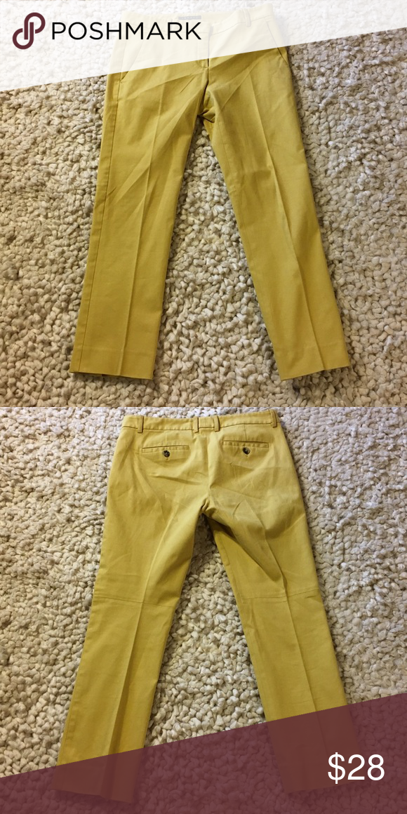 Theory mustard skinny ankle khakis Wonderfully tailored mustard colored skinny khakis.  Good condition Theory Pants Ankle & Cropped