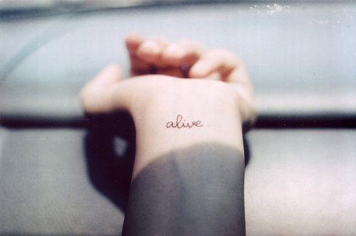 Tattoo Wrist Alive Cursive Word Tattoos Wrist Tattoos Tattoo Designs For Girls