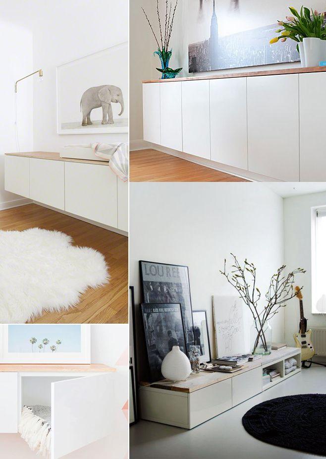 Ikea diy personalizar el mueble besta deco pinterest for Mueble ikea salon