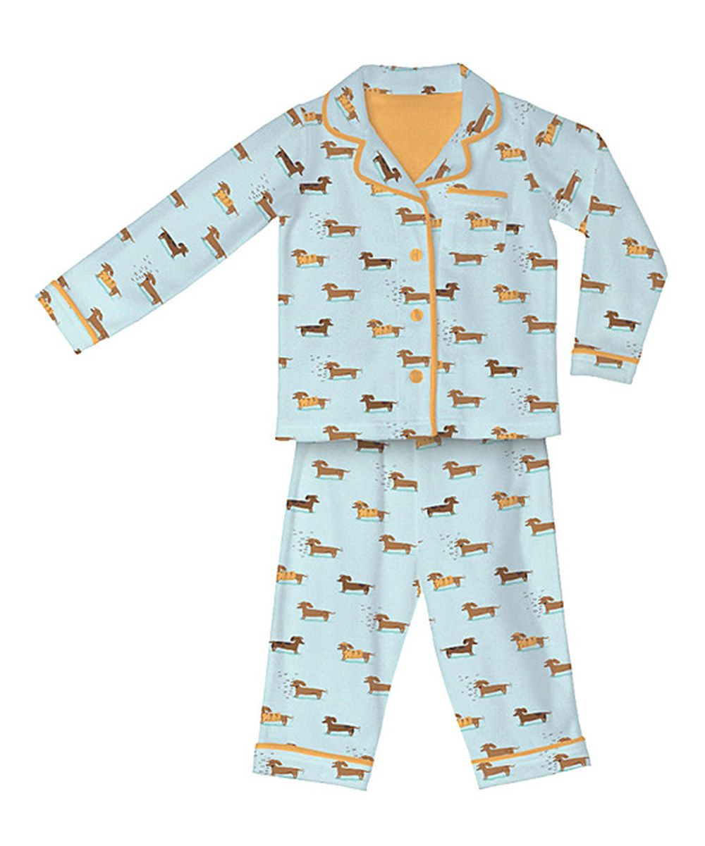 f0d692cb8 Take a look at this Light Blue Wiener Flannel Pajama Set - Infant ...