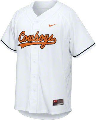 a5031b8564514 Oklahoma State Cowboys White Nike Baseball Replica Jersey