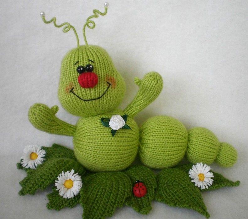 Knitted caterpillar