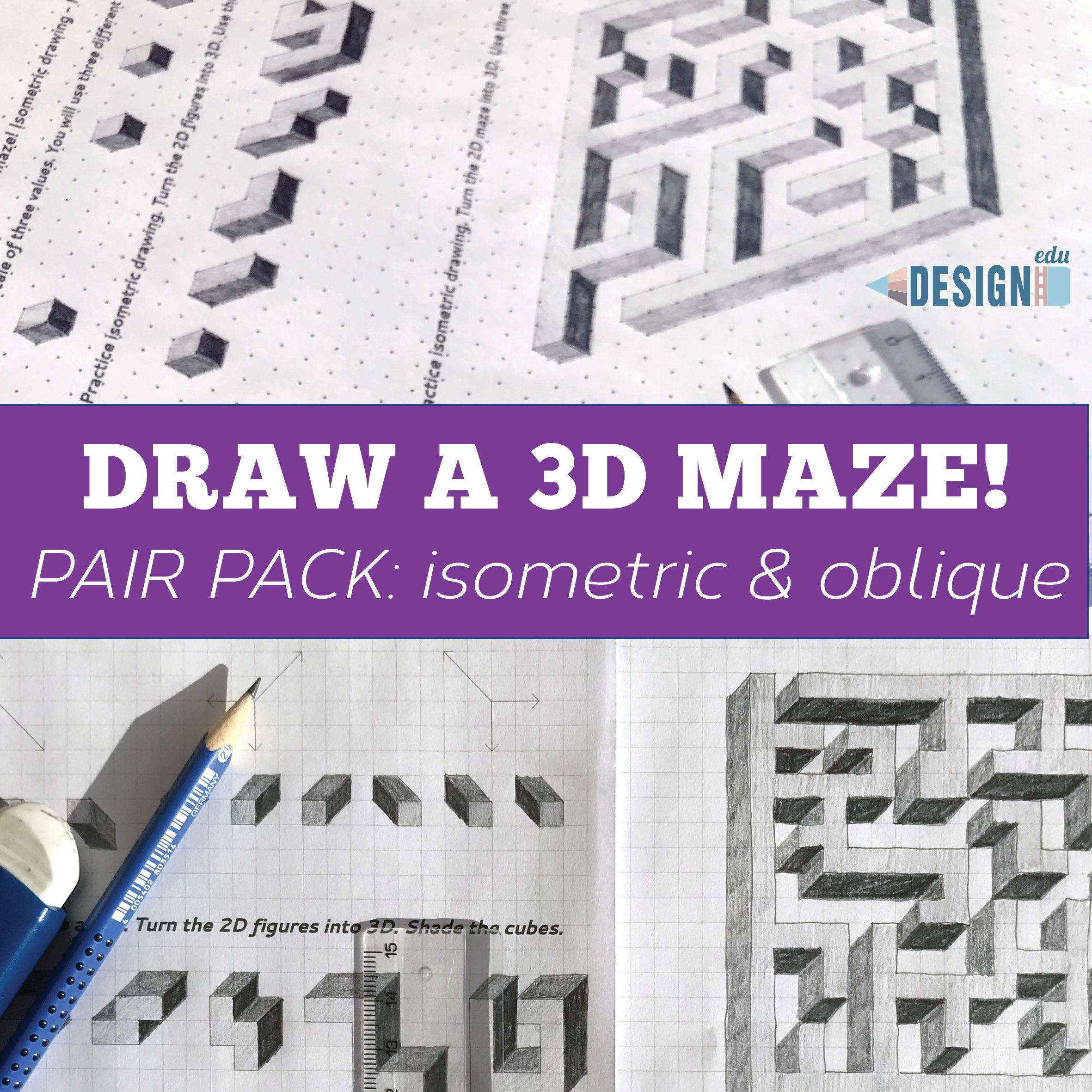 3d Maze Drawing Lessons