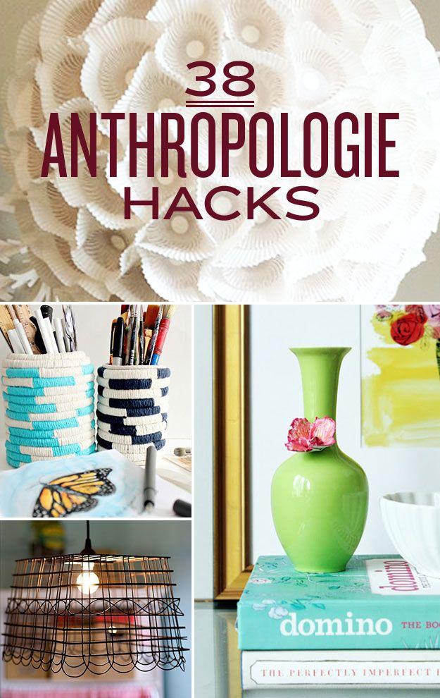 38 Anthropologie Hacks | DIY/ crafts | Pinterest | Anthropologie ...