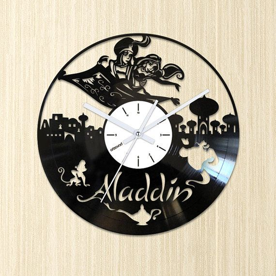 We were inspired by the story of the adventures of Aladdin and we created this wall clock. There are the main characters of the cartoon on the
