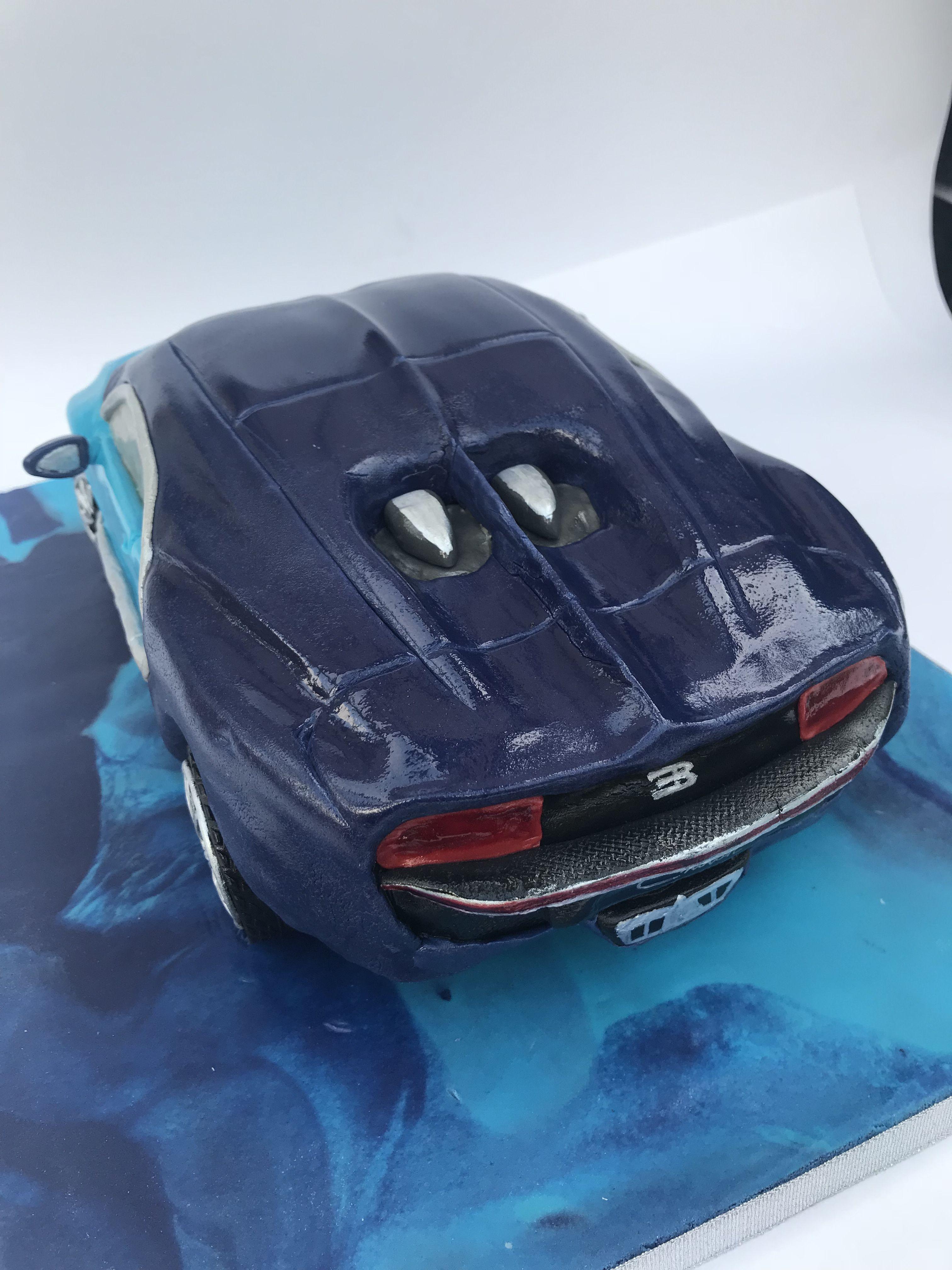 Bugatti Chiron Car Cake Unique Bespoke Designer Cakes Pinterest