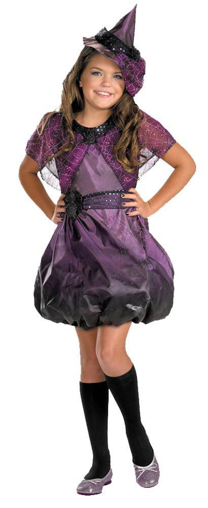 kids pretty spider web witch costume for girls purple halloween - Spider Witch Halloween Costume