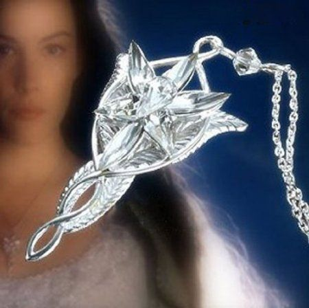 Lord of the Rings Silver Plated Arwen Evenstar Pendant Necklace Christmas Gift