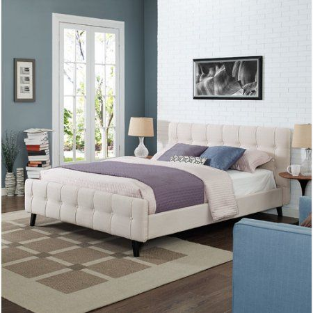 Ophelia Queen Upholstered Bed, Multiple Colors, Beige