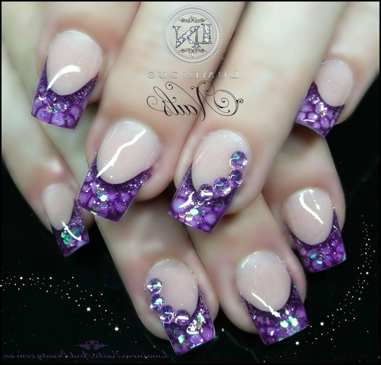 Purple Gel Nail Designs