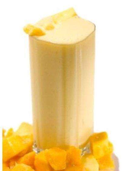 Licuado para mantener la juventud...mango&pasas.Para ver la receta completa da click en el link