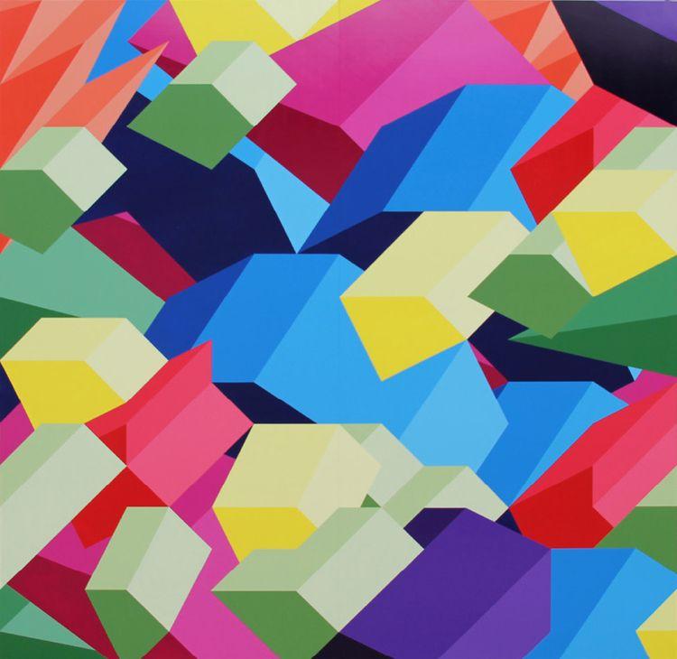 "SAW 8, 2011, 96""×96"" acrylic on Sintra"