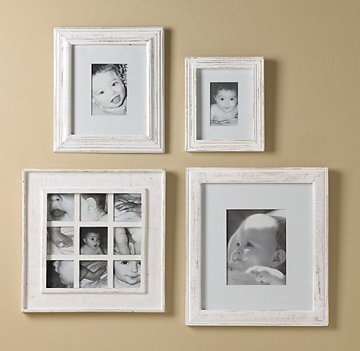 white picture frames 8x10 weathered frame 8x10 - white | Frames | Restoration Hardware Baby ...