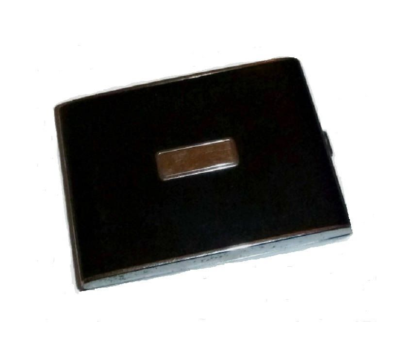 Art Deco CIGARETTE Case Signed EVANS Black Business Card Holder ...