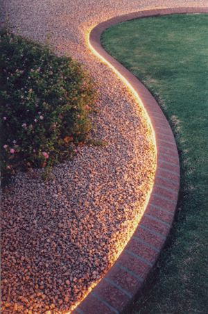 Lighted Concrete Curbing Summer Lighting Your