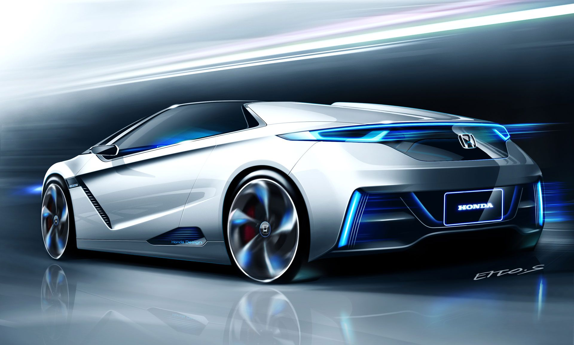 Honda Ev Ster Concept Design Sketch Car Body Design Id Sketches