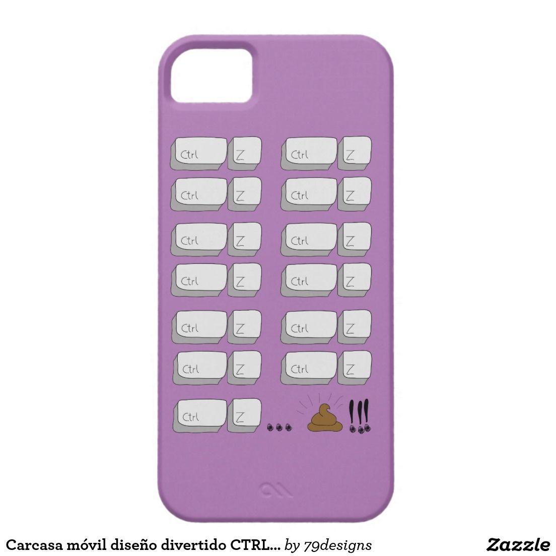 Carcasa móvil diseño divertido CTRL-Z iPhone 5 Protector