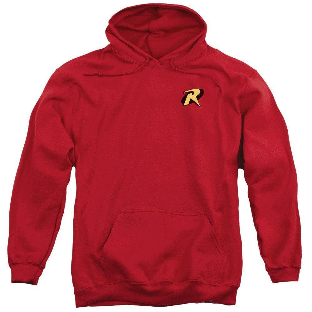 Batman - Robin Logo Adult Pull-Over Hoodie