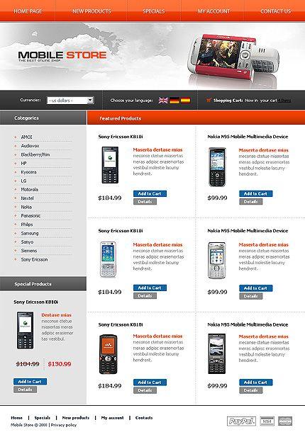 80+ Mobile Shop osCommerce Templates   Pinterest   Mobile shop ...