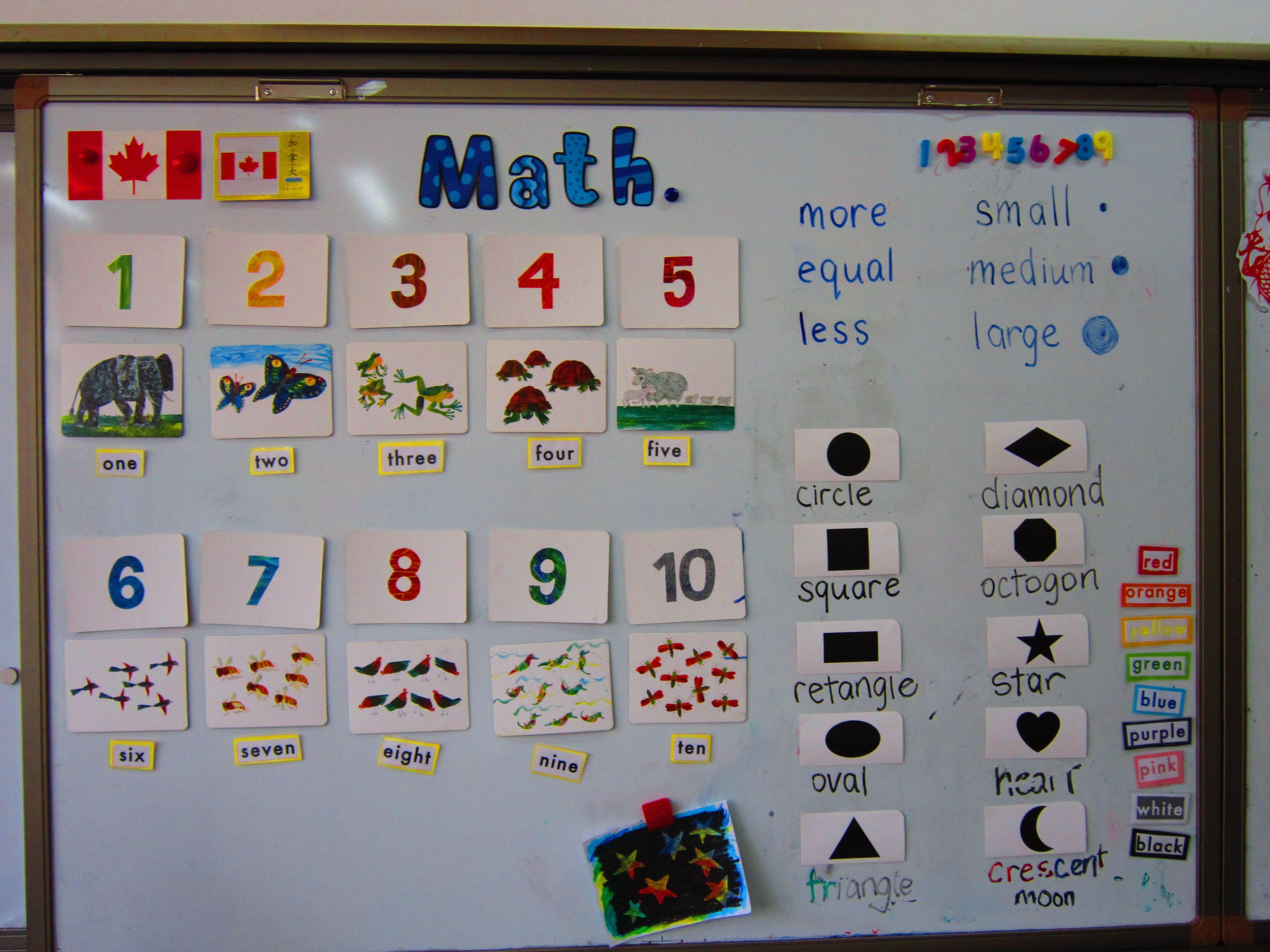 Kindergarten Math Board